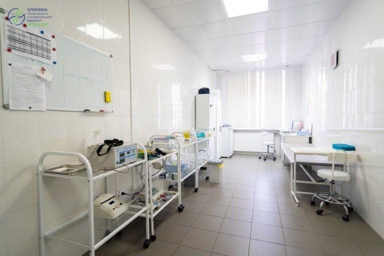 Комната для проведения медицинских процедур и назначений пациентам