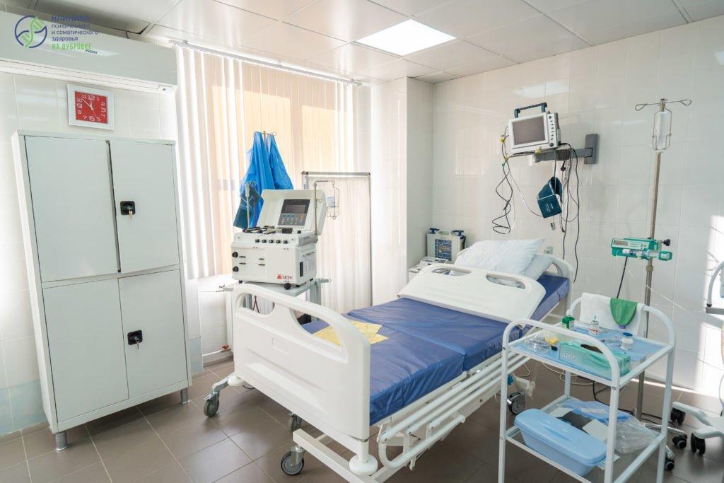 Оборудование палата реанимации в клинике доктора Болдырева Д.А.
