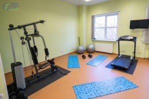 Спортивный зал для занятия на тренажёрах